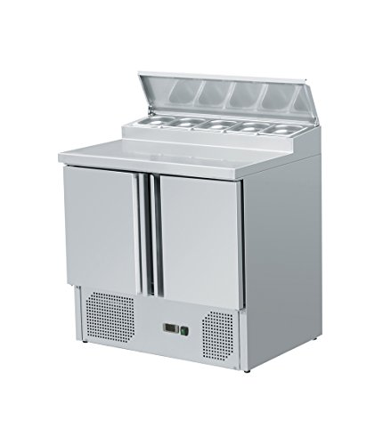 zorro zubereitungstisch zthps200 2 tueren kuehltisch mit gn einlass salatkuehlung gastro belegstation - Zorro - Zubereitungstisch ZTHPS200 - 2 Türen - Kühltisch mit GN Einlass - Salatkühlung - Gastro Belegstation