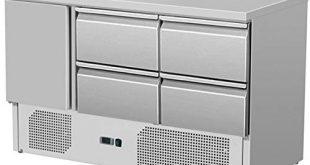 ZORRO Kuehltisch ZS 903 4D 1 Tuer 310x165 - ZORRO - Kühltisch ZS 903 4D - 1 Tür - 4 Schubladen - Gastro Saladette mit Arbeitsfläche - R600A - Digitales Thermostat