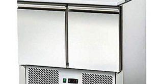 Saladette Kuehltisch mit Deckel 2Tueren Salatkuehlung Gastro 310x165 - Saladette - Kühltisch mit Deckel - 2Türen - Salatkühlung -Gastro - mit Schneidbrett und Arbeitsfläche aus Edelstahl