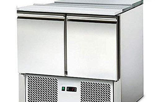Saladette Kuehltisch mit Deckel 2Tueren Salatkuehlung Gastro 500x330 - Saladette - Kühltisch mit Deckel - 2Türen - Salatkühlung -Gastro - mit Schneidbrett und Arbeitsfläche aus Edelstahl
