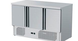 ZORRO Kuehltisch ZS903 3 Tueren Gastro Saladette mit Arbeitsflaeche 310x165 - ZORRO - Kühltisch ZS903-3 Türen - Gastro Saladette mit Arbeitsfläche - R600A - Digitales Thermostat