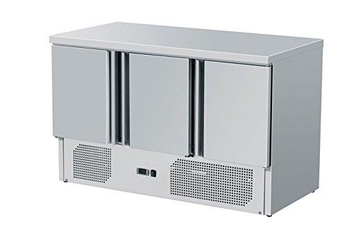 ZORRO Kuehltisch ZS903 3 Tueren Gastro Saladette mit Arbeitsflaeche - ZORRO - Kühltisch ZS903-3 Türen - Gastro Saladette mit Arbeitsfläche - R600A - Digitales Thermostat